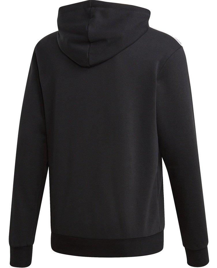 Bluza męska adidas Essentials 3 Stripes Pullover French Terry czarna DU0498