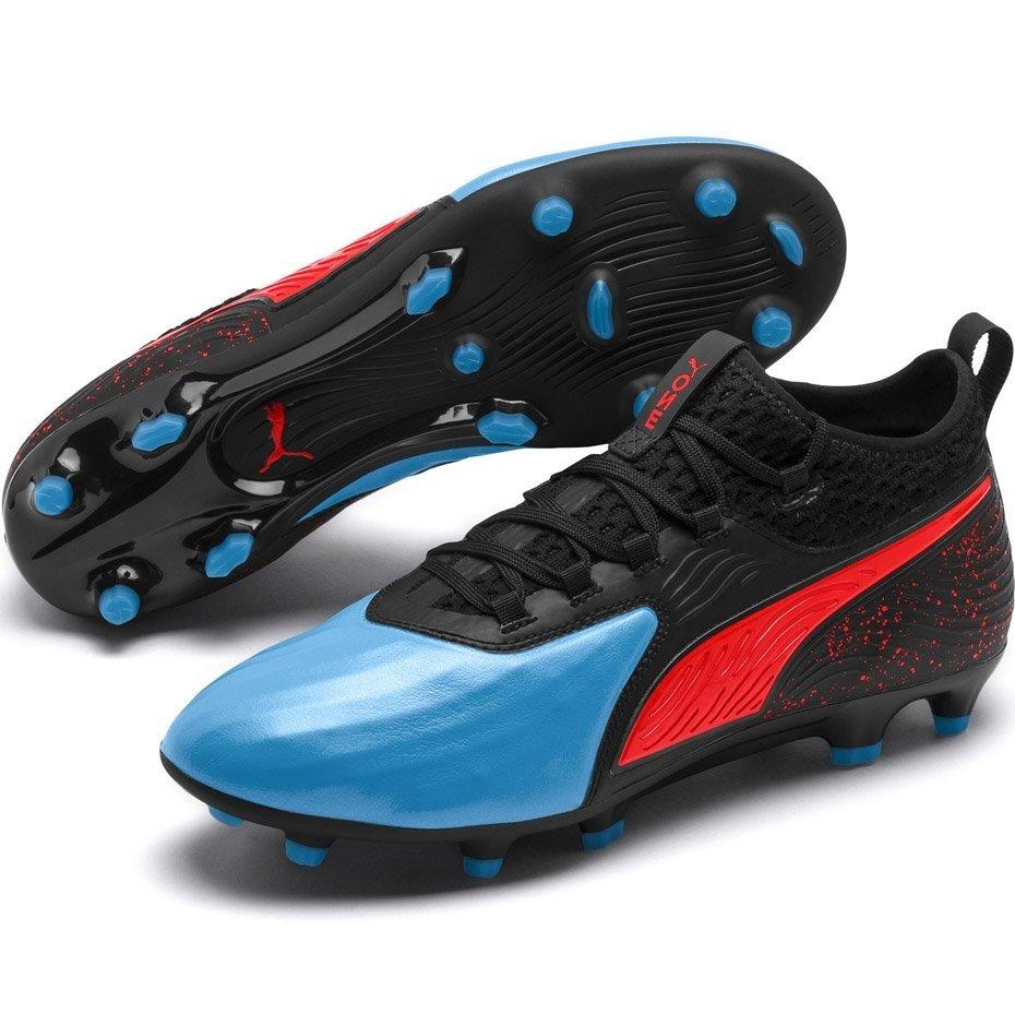 Buty piłkarskie Puma One 19.2 czarno niebiesko czerwone FG AG 105484 01