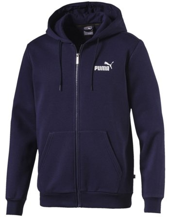 Bluza męska Puma Essentials Full Zip Hoody Fleece granatowa 851763 06